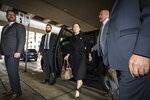 Huawei chief financial officer Meng Wanzhou arrives at B.C. Supreme Court in Vancouver, Tuesday, Jan. 21, 2020. Wanzhou is out on bail and remains under partial house arrest after she was detained last year at the behest of American authorities. (Darryl Dyck/The Canadian Press via AP)