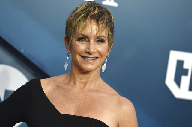FILE - This Jan. 19, 2020 file photo shows SAG-AFTRA President, Gabrielle Carteris at the 26th annual Screen Actors Guild Awards in Los Angeles. The union that represents actors and television performers issued a series of standards and guidelines Wednesday for crew members who supervise scenes involving sex and nudity in an attempt to combat on-set sexual harassment.   (Photo by Jordan Strauss/Invision/AP, File)
