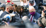 "Actor Johnny Depp, centre, arrives at the High Court to give evidence in his libel case, in London, Wednesday July 15, 2020. Depp is suing News Group Newspapers, publisher of The Sun, and the paper's executive editor, Dan Wootton, over an April 2018 article that called him a ""wife-beater."" The Sun's defense relies on a total of 14 allegations by Amber Heard of Depp's violence. He strongly denies all of them. ( Dominic Lipinski/PA via AP)"