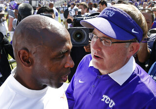 Charlie Strong Gary Patterson