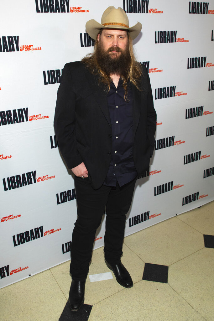 Performer Chris Stapleton attends the Gershwin Prize Honoree's Tribute Concert at DAR Constitution Hall on Wednesday, March 4, 2020, in Washington. (Photo by Brent N. Clarke/Invision/AP)