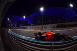 /Red Bull driver Max Verstappen of the Netherlands in action during the Formula One Abu Dhabi Grand Prix in Abu Dhabi, United Arab Emirates, Sunday, Dec. 13, 2020. (Giuseppe Cacace, Pool via AP)
