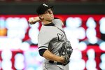 Chicago White Sox's Jace Fry throws against the Minnesota Twins in the third inning of a baseball game Wednesday, Sept. 18, 2019, in Minneapolis. (AP Photo/Jim Mone)