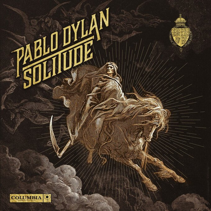 """This image released by Columbia Records shows cover art for the EP """"Solitude"""" by Pablo Dylan. (Columbia via AP)"""