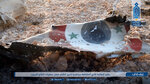 This photo provided by the Ibaa News Agency, the media arm of al-Qaida's branch in Syria, purports to show part of a Syrian warplane that was shot down by rebel fighters over Idlib province in Syria, Wednesday, Aug 14, 2019. The Britain-based Syrian Observatory for Human Rights, a war monitor, said the warplane was shot down on the southern edge of Idlib province, while activist Taher al-Omar who has close links with militants said it was a Russian-made SU-22. The caption in Arabic reads:
