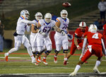 Boise State quarterback Brett Rypien (4) throws a pass during the first half of an NCAA college football game against New Mexico in Albuquerque, N.M., Friday, Nov. 16, 2018. (AP Photo/Andres Leighton)