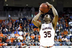 Auburn guard Devan Cambridge (35) shoots for three points during the second half of an NCAA college basketball game against South Carolina Wednesday, Jan. 22, 2020, in Auburn, Ala. (AP Photo/Julie Bennett)