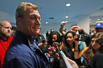 San Francisco 49ers general manager John Lynch speaks during a media availability, Wednesday, Jan. 29, 2020, in Miami, for the NFL Super Bowl 54 football game against the Kansas City Chiefs. (AP Photo/Wilfredo Lee)