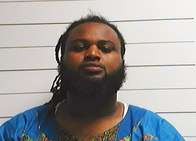 FILE - This April 10, 2016, file photo provided by the Orleans Parish Sheriff's Office shows Cardell Hayes. A bond hearing was scheduled Thursday, March 18, for Hayes, the man who fatally shot ex-NFL star Will Smith in New Orleans in 2016 following a confrontation over a traffic crash. Hayes was sentenced to 25 years in prison for a manslaughter conviction in Smith's shooting and attempted manslaughter for wounding Smith's wife. But the verdict from the jury was not unanimous — jurors voted 10-2 — and has since been ruled unconstitutional. (Orleans Parish Sheriff's Office via AP, File)