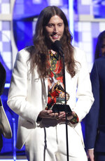 Ludwig Goransson, accepts the award for record of the year for