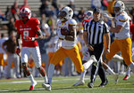 Wyoming running back Xazavian Valladay (23) sprints to the end zone to score a touchdown against New Mexico during the first half of an NCAA college football game in Albuquerque, N.M., Saturday, Nov. 24, 2018. (AP Photo/Andres Leighton)