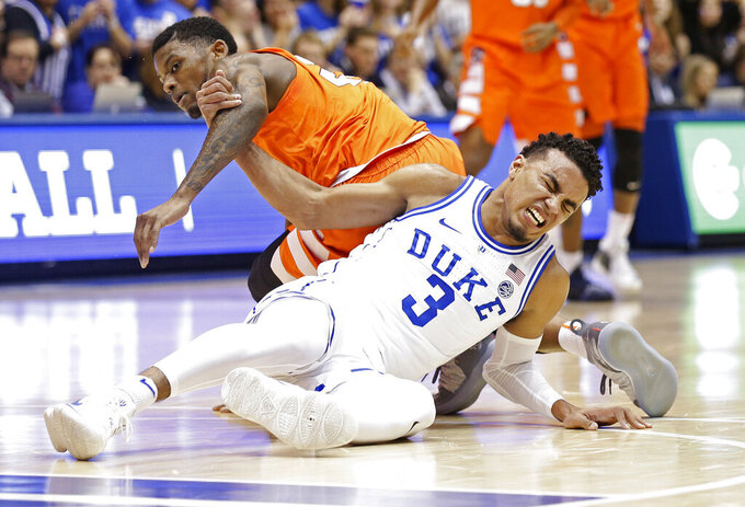 Without Jones, No. 1 Duke braces for visit from No. 4 U-Va.