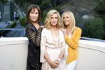 """Knots Landing"" co-stars Michele Lee, from left, Donna Mills and Joan Van Ark pose for a portrait during the Jose Iturbi Foundation's reception preceding a concert celebrating conductor Gustavo Dudamel's 10th anniversary with LA Philharmonic at the Hollywood Bowl on Thursday, July 18, 2019, in Los Angeles. Long-running nighttime soap ""Knots Landing"" marks its 40th anniversary in December. (Photo by Mark Von Holden/Invision/AP)"