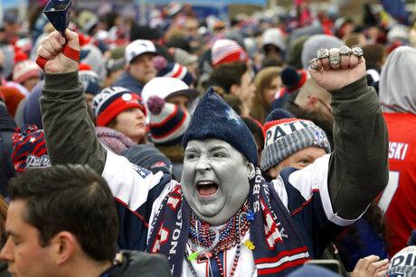 Super Bowl Patriots Rally