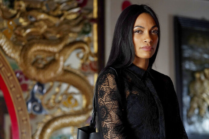 This image released by USA Network shows Rosario Dawson, as Allegra Dill, from her new series