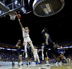 Texas Tech's Jarrett Culver (23) shoots during the second half of a second round men's college basketball game against Buffalo in the NCAA Tournament Sunday, March 24, 2019, in Tulsa, Okla. Texas Tech won 78-58. (AP Photo/Charlie Riedel)