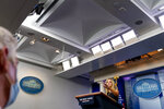 White House press secretary Kayleigh McEnany calls on a reporter during a press briefing in the James Brady Press Briefing Room at the White House in Washington, Tuesday, Sept. 22, 2020. (AP Photo/Andrew Harnik)