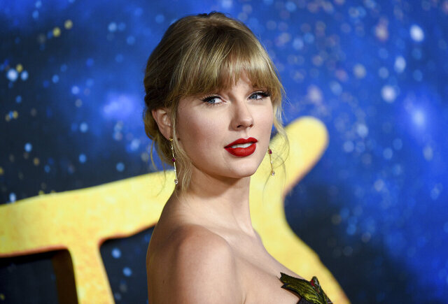 FILE - Singer-actress Taylor Swift attends the world premiere of