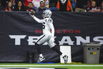 Oakland Raiders wide receiver Tyrell Williams (16) scores a touchdown against the Houston Texans during the second half of an NFL football game Sunday, Oct. 27, 2019, in Houston. (AP Photo/Eric Christian Smith)