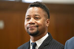 Cuba Gooding Jr. appears in a courtroom in New York, Thursday, Oct. 10, 2019. The actor is accused of placing his hand on a 29-year-old woman's breast and squeezing it without her consent in New York on June 9.  (Steven Hirsch/New York Post via AP, Pool)