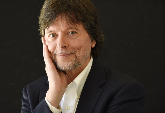 FILE - In this July 28, 2017, file photo, documentary filmmaker Ken Burns poses for a portrait during the 2017 Television Critics Association Summer Press Tour in Beverly Hills, Calif. Burns is being honored in Philadelphia with an award from the Museum of the American Revolution. The museum announced Thursday that Burns will receive the Gerry Lenfest Spirit of the American Revolution Award on April 11. (Photo by Chris Pizzello/Invision/AP, File)
