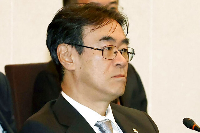 This Feb. 2020 photo shows Hiromu Kurokawa, head of the Tokyo High Prosecutors Office in Tokyo, Japan. Justice Ministry officials are investigating a gambling scandal involving the top Japanese prosecutor seen as close to Prime Minister Shinzo Abe, after a magazine reported he evaded a stay-at-home request to play mahjong. The scandal involving Kurokawa surfaced Wednesday, May 20, 2020, after the popular weekly magazine Shukan Bunshun said he played mahjong for money at the home of a newspaper reporter twice in May.  (Sadayuki Goto/Kyodo News via AP)