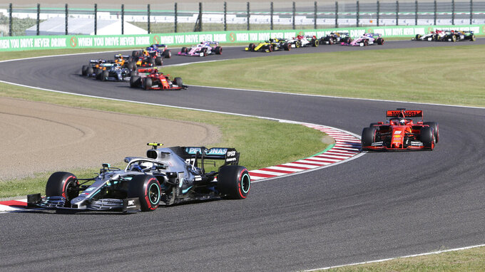 Mercedes driver Bottas wins Japanese Grand Prix