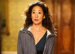 This image released by BBC America shows Sandra Oh in a scene from