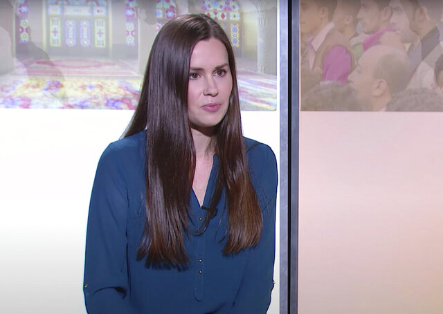 This image made from a 2017 video by The Modern Middle East shows Kylie Moore-Gilbert, a University of Melbourne scholar on the Middle East. The British-Australian academic serving a 10-year sentence for espionage in Iran has been moved to a notorious prison where concerns for her well-being have escalated, the Australian government confirmed Wednesday, July 29, 2020. (The Modern Middle East via AP)