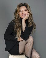 "FILE - Shania Twain appears during a portrait session in New York on  June 14, 2019. Twain is celebrating the 25th anniversary of the album that turned her into a global superstar. She is releasing a deluxe reissue set of her 1995 breakthrough album ""The Woman in Me,"" which became the best-selling record by a woman in country music at the time. (Photo by Christopher Smith/Invision/AP, File)"