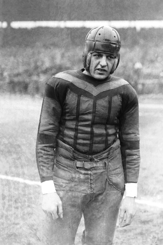 This undated file photo shows football player Harold
