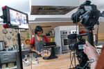 In this Oct. 7, 2020 photo, chef Sohla El-Waylly prepares Swedish meatballs during a taping of