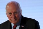 Former U.S. Vice President Dick Cheney reacts after his speech at the Arab Strategy Forum in Dubai, United Arab Emirates, Monday, Dec. 9, 2019. Cheney warned Monday that