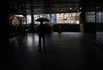A man walks through an underground passage during rainy day in Belgrade, Serbia, Wednesday, Feb. 5, 2020. Weather forecasts predict changeable weather during the next few days. (AP Photo/Darko Vojinovic)