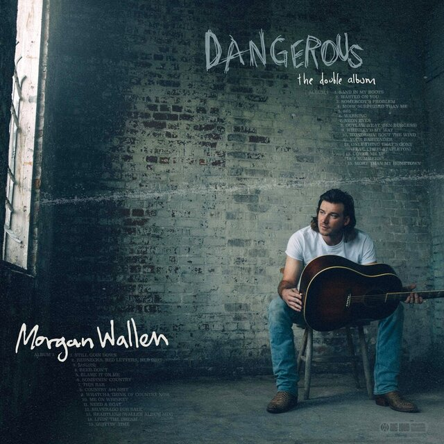 "This cover image released by Big Loud Records and Republic Records shows""Dangerous: The Double Album,"" by Morgan Wallen. (Big Loud Records and Republic Records via AP)"