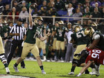 UAB quarterback Tyler Johnston III (17) passes during the first half of the Boca Raton Bowl NCAA college football game against Northern Illinois, Tuesday, Dec. 18, 2018, in Boca Raton, Fla. (AP Photo/Lynne Sladky)