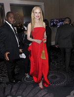 Nicole Kidman attends the 77th annual Golden Globe Awards at the Beverly Hilton Hotel on Sunday, Jan. 5, 2020, in Beverly Hills, Calif. (Richard Shotwell/Invision/AP)