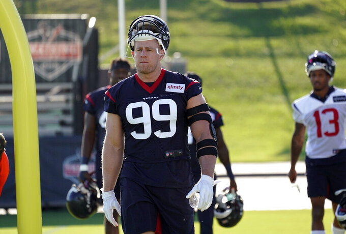 Watt healthy and with Houston Texans for first day of camp