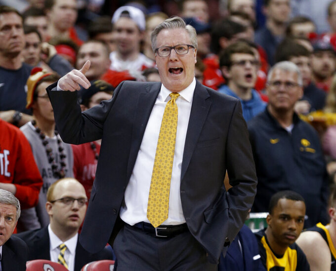 Iowa coach Fran McCaffery suspended 2 games