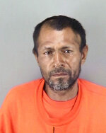 FILE - This undated file booking photo provided by the San Francisco Police Department shows Jose Ines Garcia Zarate, a homeless undocumented immigrant acquitted of killing Kate Steinle on a San Francisco pier. The Mexican man acquitted of murder in a San Francisco case that prompted immigration debate has pleaded not guilty to federal gun charges. (San Francisco Police Department via AP, File)