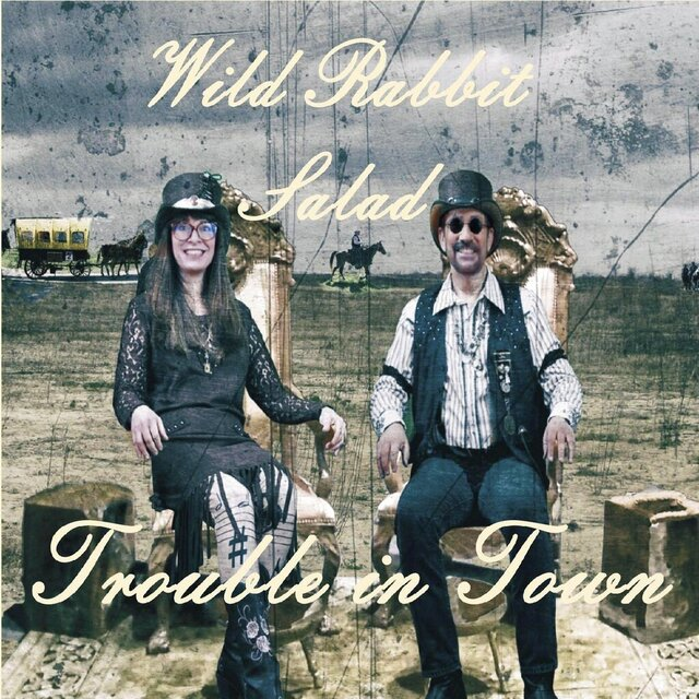 "This image provided by REGI Music in February 2020 shows the cover for the album ""Trouble In Town"" by Wild Rabbit Salad. (REGI Music via AP)"
