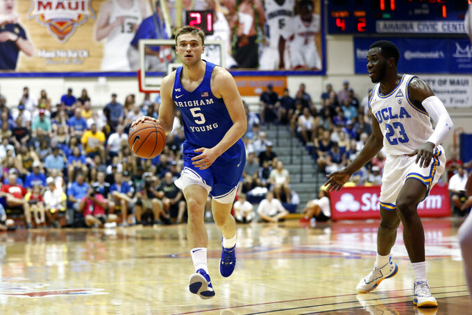 BYU pulls away late to beat UCLA 78-63 at Maui Invitational