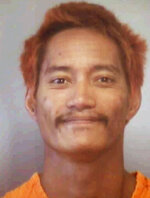 This undated booking photo provided by the Hawaii Department of Public Safety shows Barret Paman. Paman is one of two inmates who escaped from a Maui jail Sunday, April 14, 2019. He and Troy Diego escaped from Maui Community Correctional Center. Authorities say staff members later noticed a broken door in the back of a dorm building. Paman later turned himself in to Maui police. He's awaiting trial for burglary, theft and firearms charges. Diego remained missing Monday, April 15, 2019. He's awaiting trial for theft and unauthorized entry into a vehicle. (Hawaii Department of Public Safety via AP)