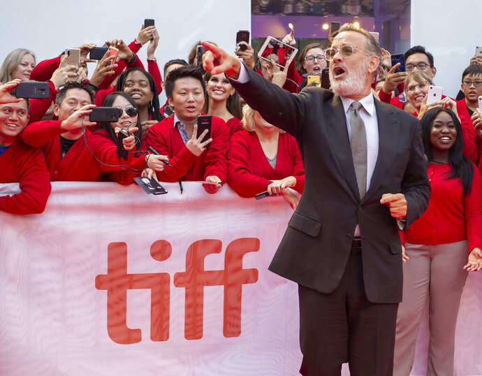 Actor Tom Hanks arrives for the Gala Premiere of the film