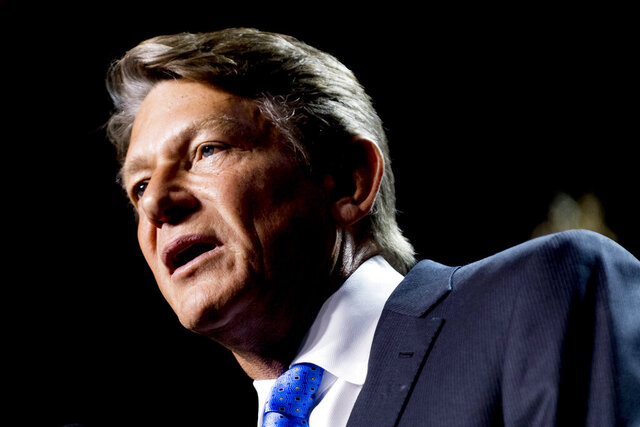 FILE- In this Aug. 2, 2018, file photo shows Randy Boyd  at Jackson Terminal in Knoxville, Tenn.  Record enrollment has helped the University of Tennessee to make up for much of the revenue lost due to the coronavirus crisis, system President Randy Boyd said this week of Oct. 23, 2020. (Calvin Mattheis/Knoxville News Sentinel via AP, File)