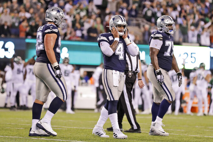 Darnold throws 2 TDs in return, Jets edge Cowboys 24-22