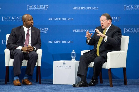 Tim Scott, Mike Huckabee