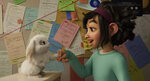 This image released by Netflix shows characters Bungee the rabbit, left, and Fei Fei, voiced by Cathy Ang, in a scene from
