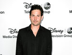 FILE - This May 19, 2013 file photo shows actor Henry Thomas at the Disney Media Networks International Upfronts in Burbank, Calif. Authorities say Thomas, the actor who starred as a child in