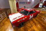 In this image provided by the The Henry Ford, Wendell Scott's car is on display, part of the Driven To Win exhibit at the The Henry Ford Museum in Dearborn, Mich. (Wes Duenkel/The Henry Ford via AP)